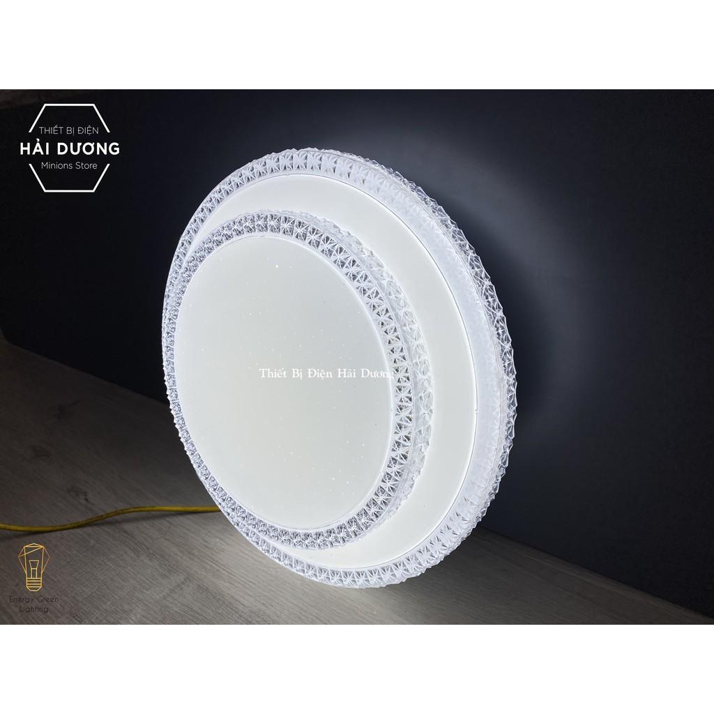 Đèn led ốp trần 35024 decor cao cấp 40cm 24w điều khiển từ xa - 3 chế độ ánh sáng -Tăng giảm ánh sáng - Có video đính kè