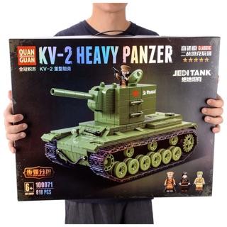 ( BAO GIÁ ) Bộ lắp ráp Lego Xe Tank KV-2 Thế Chiến 2 WW2 QuanGuan