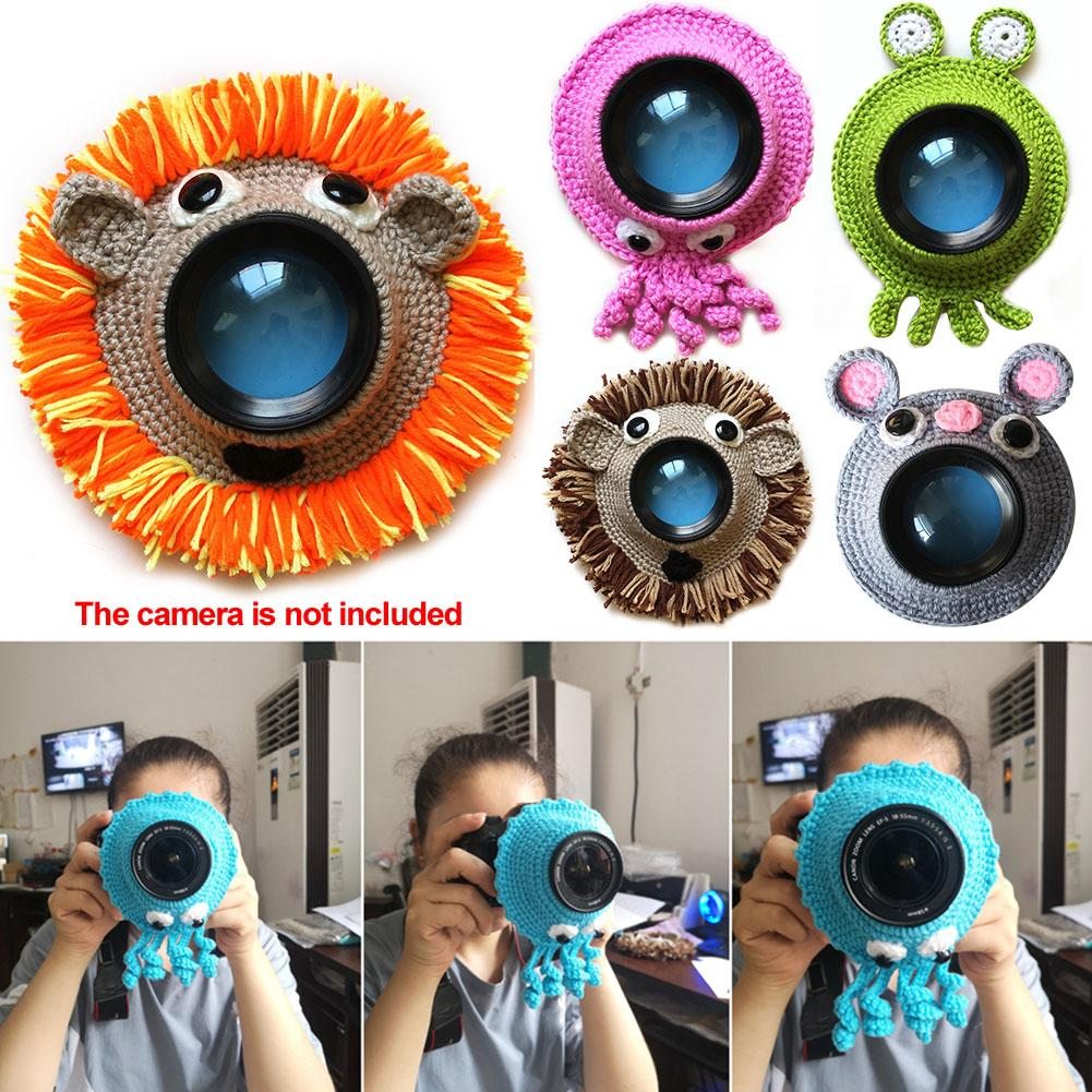Posing Cute Animal Teaser Toy Knitted Lens Accessory Child Handmade Kid Photography Props Camera Buddies