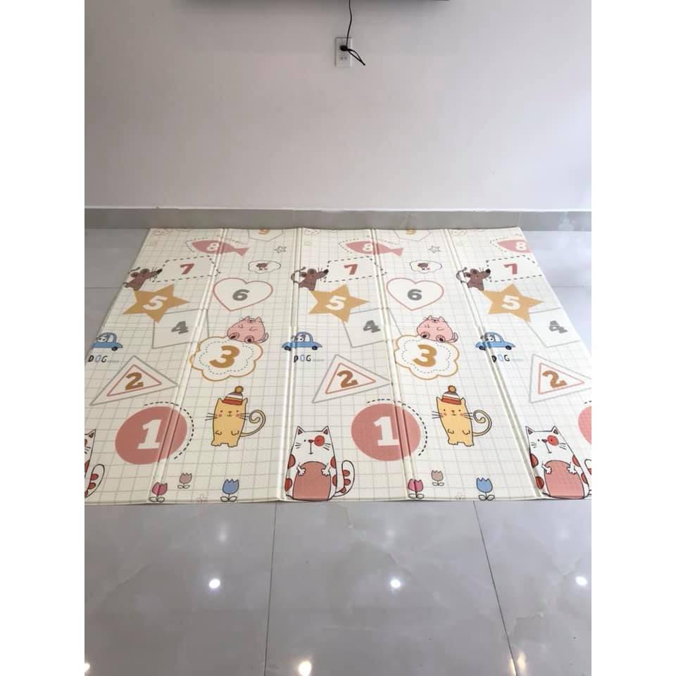 thảm xốp silicon XPE Hàn Quốc 2 mặt chống thấm , chống va đập 1.8*2M