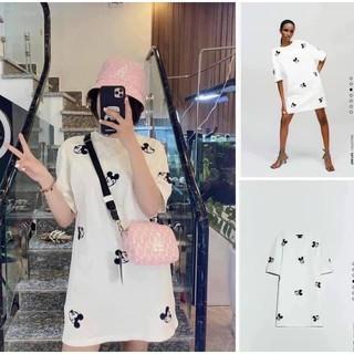 Áo Phông Váy Mickey Trùm Mông From Dấu Quần Cho Nữ thumbnail