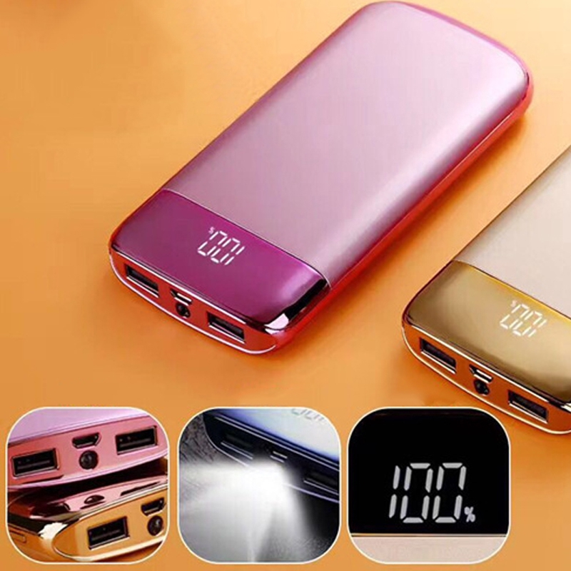 Simple Business Ultra-thin Mobile Power Mobile phone universal Full satisfaction 20000 mah Display battery