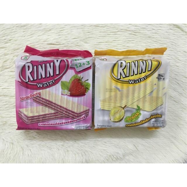 Bánh xốp Rinny Thái Lan 2 vị dâu & sầu riêng