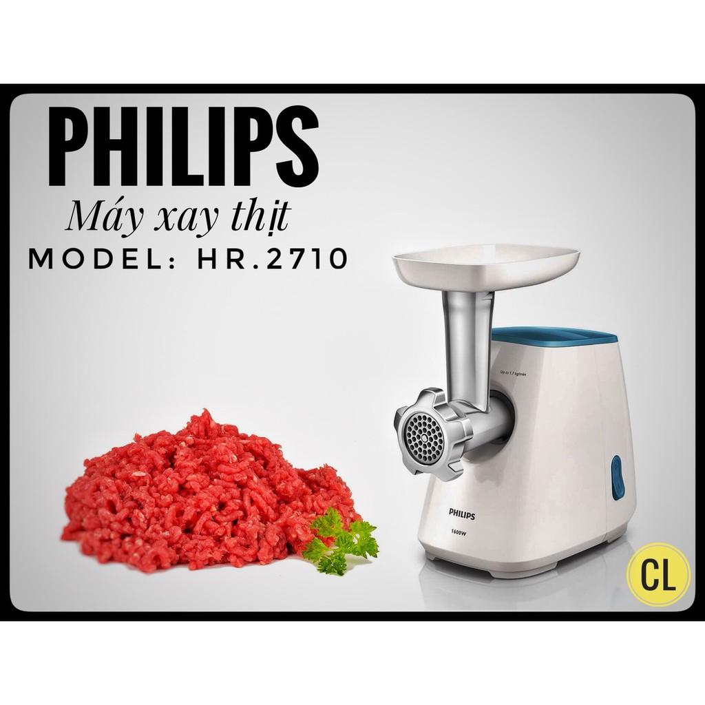 Máy xay thịt cao cấp Philips HR2710 (Trắng) - Hàng nhập khẩu
