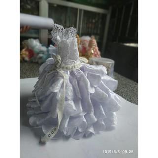 Váy cưới trắng búp bê Barbie