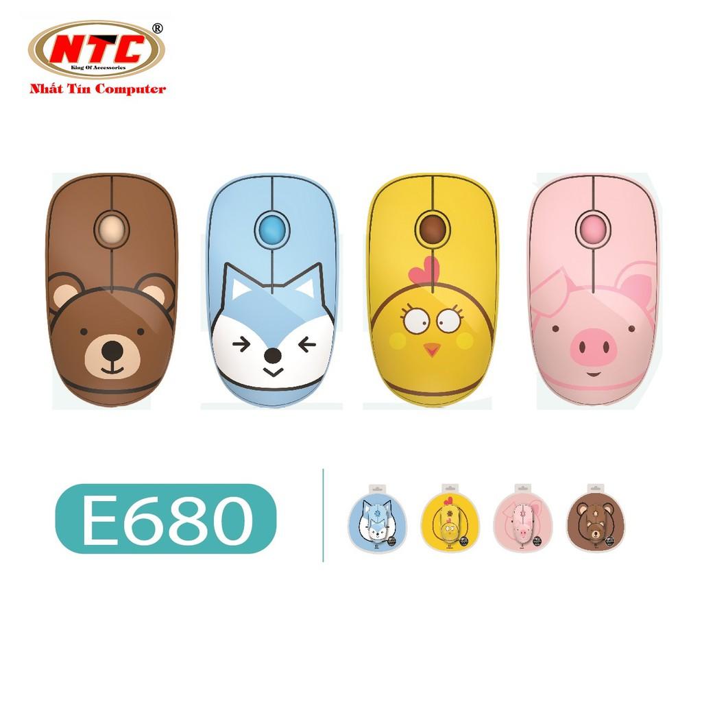 Chuột không dây Wireless FD E680 - pin dùng đến 12 T + Tặng kèm lót chuột