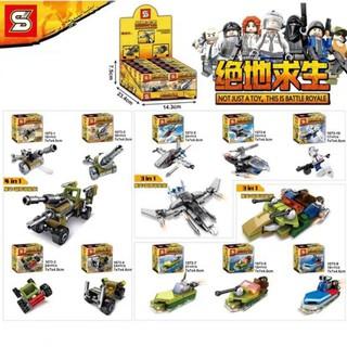 FULL SET ĐỒ CHƠI LẮP RÁP KIỂU LEGO 10 MÔ HÌNH XẾP HÌNH SENBAO SY1073