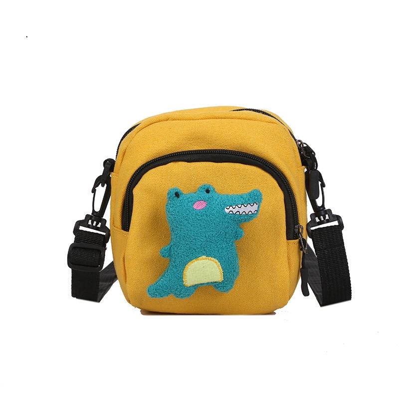 Túi vải bố giả da cá sấu đeo chéo cho bé
