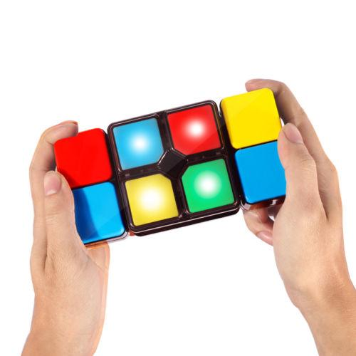 JQAIQ Variety Game Music Magic Cube with LED Light Intelligent Puzzle Fidget Cube Toy