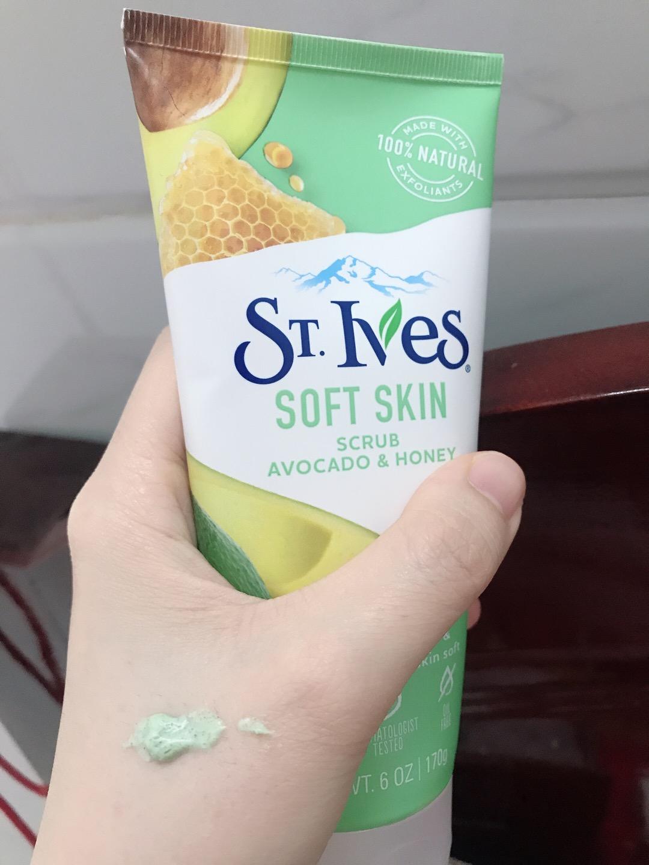 Sữa Rửa Mặt Tẩy Tế Bào Chết St.Ives Soft Skin Avocado And Honey Face Scrub  (170g) | Shopee Việt Nam