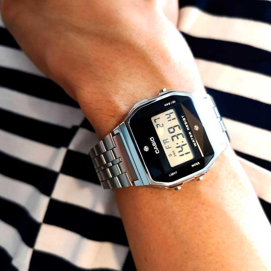 Đồng hồ nữ dây kim loại Casio Standard Anh Khuê  A159WAD-1DF - chính hãng