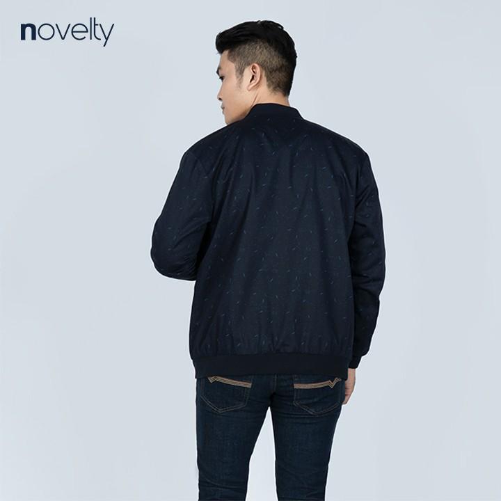 Áo Jacket Khaki Bomber nam Novelty in họa tiết màu đen NJKMHTMT3R1905622