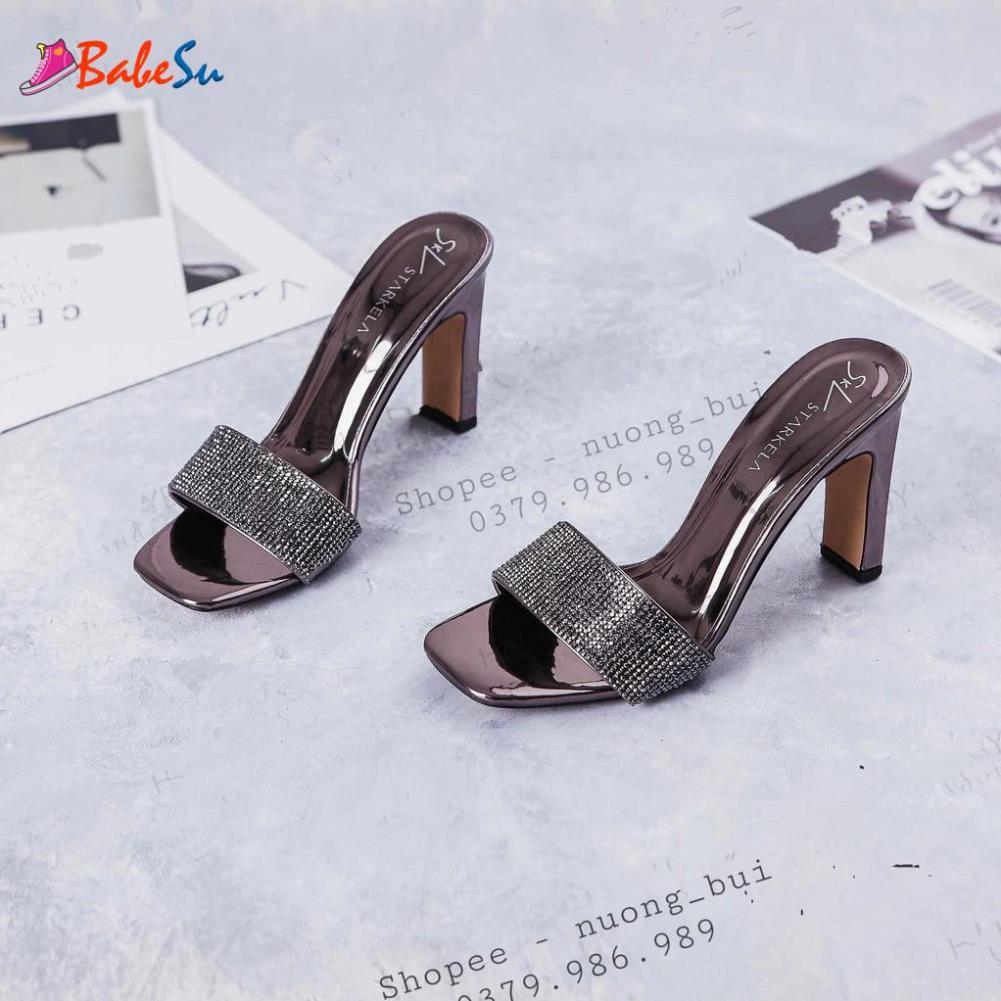 ⚡Bán rẻ⚡ Giày guốc cao gót 4 màu mẫu mới nhất (cao 10p) mã 763
