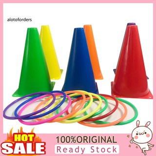 Alo_Colorful Toss Throwing Stacking Ring Hoop Circle Kids Toy Funny Family Game Gift