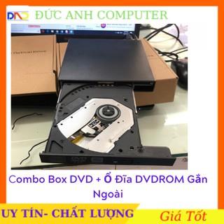Combo Box DVD + Ổ Đĩa DVDROM Gắn Ngoài giao tiếp USB 2.0- Ổ Đĩa Di Động Tiện Dụng thumbnail