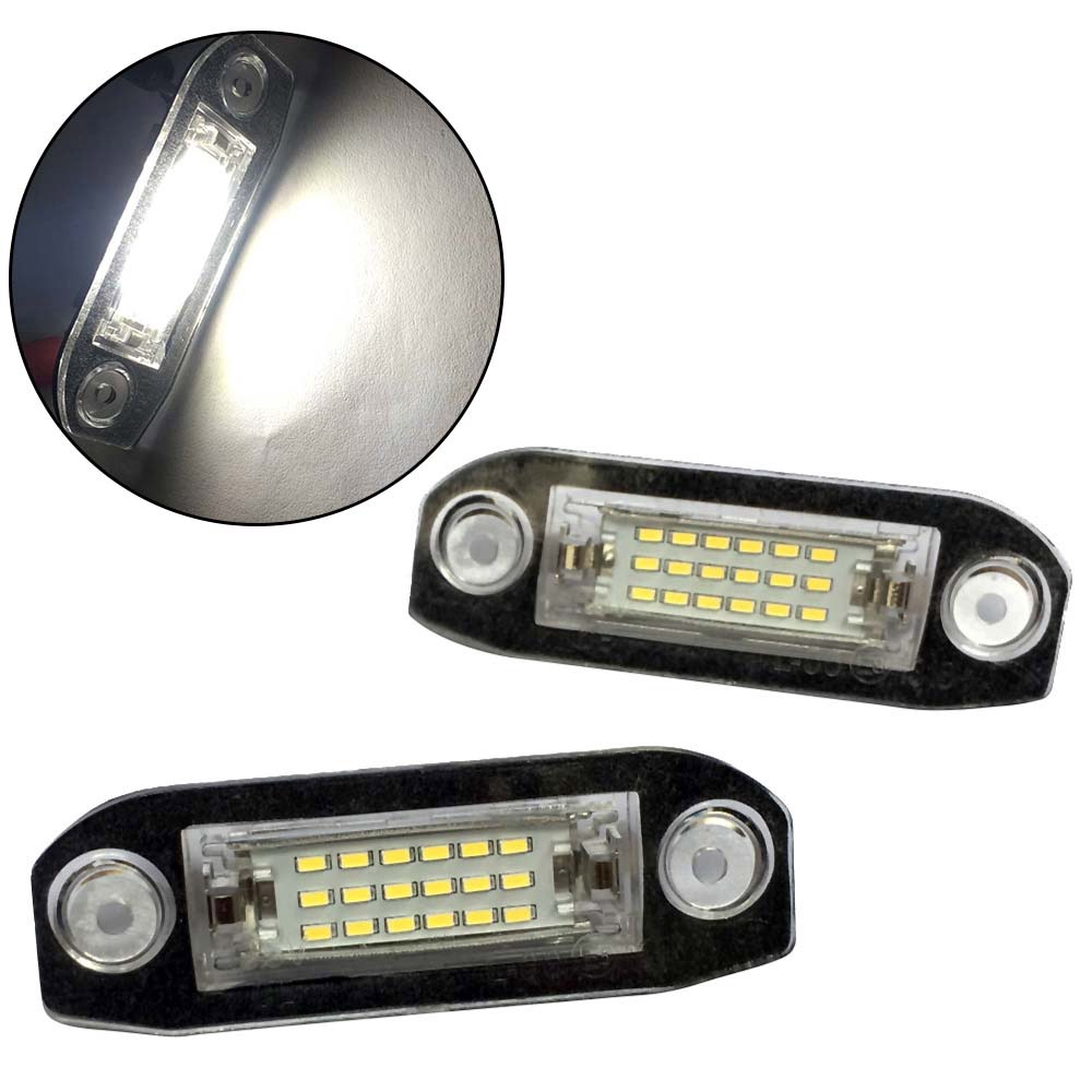 2pcs LED License Number Plate Light Lamp Modul for Volvo XC60 XC70 XC90 S40 S60