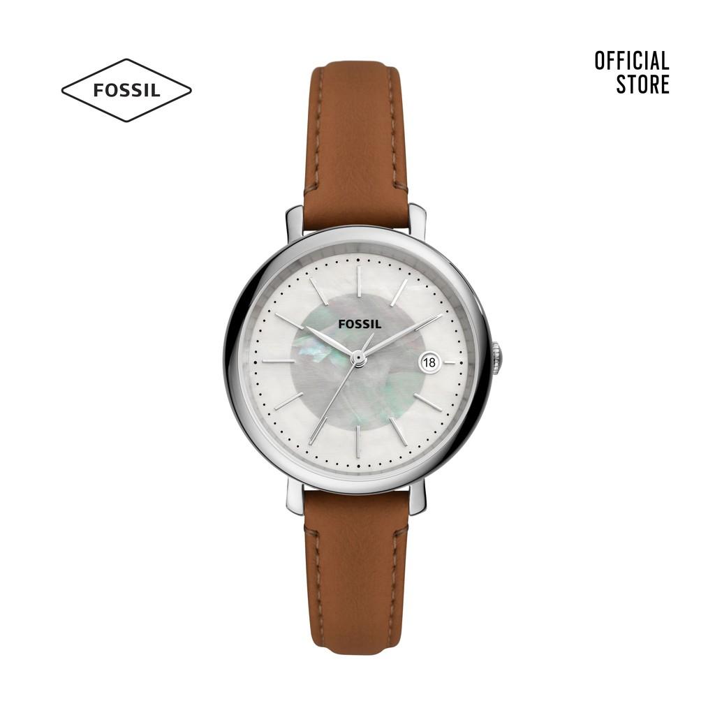 Đồng hồ nữ Fossil Jacqueline Solar dây da ES5090 - nâu