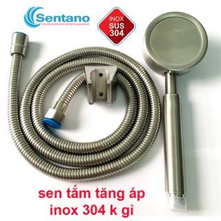 Bộ sen tắm tăng áp Sentano 100% inox 304 cao cấp không gỉ