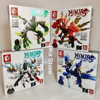 Combo 4 Bộ đồ chơi Lego xếp hình Ninja sấm sét Jika Store