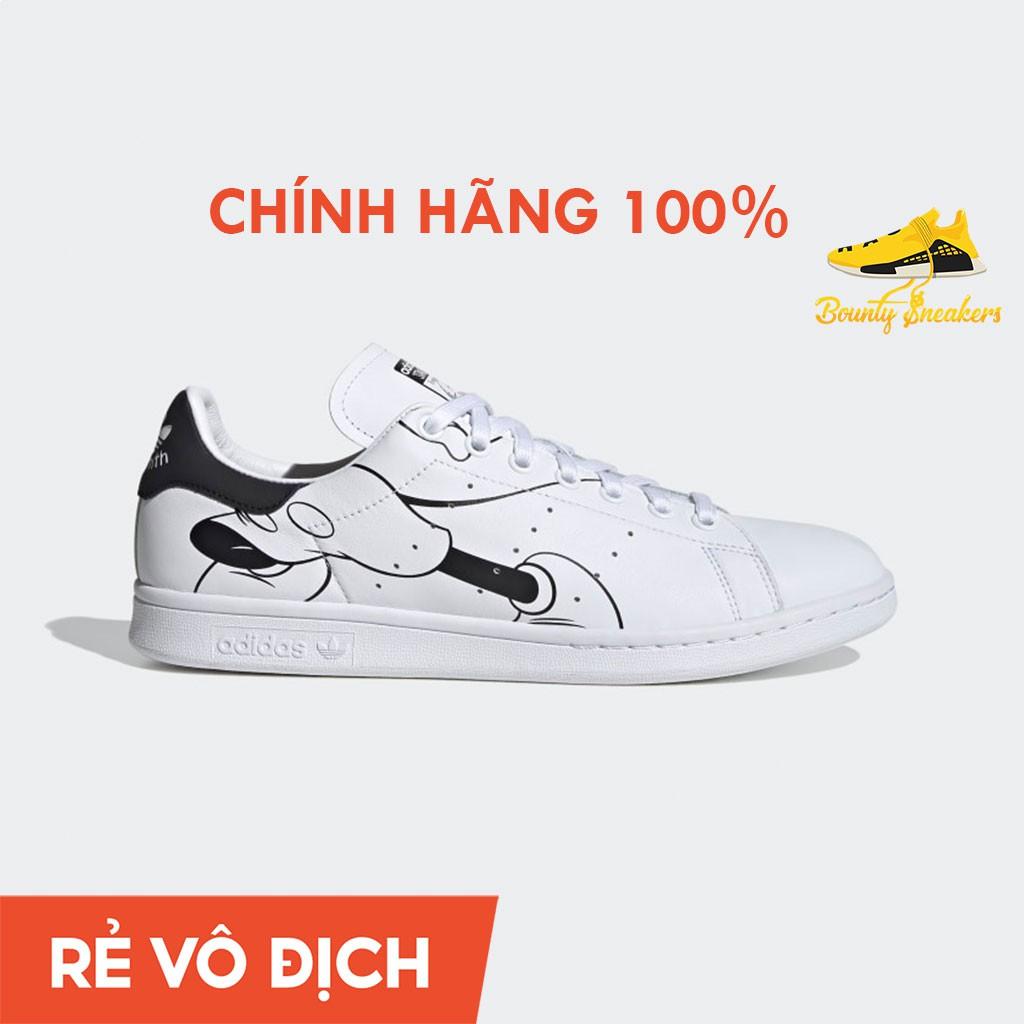 Giày Sneaker Thời Trang Nam Nữ Adidas Stan Smith  Trắng Đen FW2895 - Hàng Chính Hãng - Bounty Sneakers