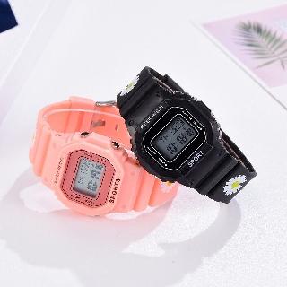 Đồng hồ điện tử nam nữ Aosun dây hoa cúc mẫu mới cực hot