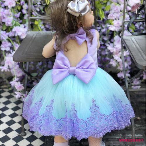 Đầm công chúa thắt nơ xinh xắn cho bé gái