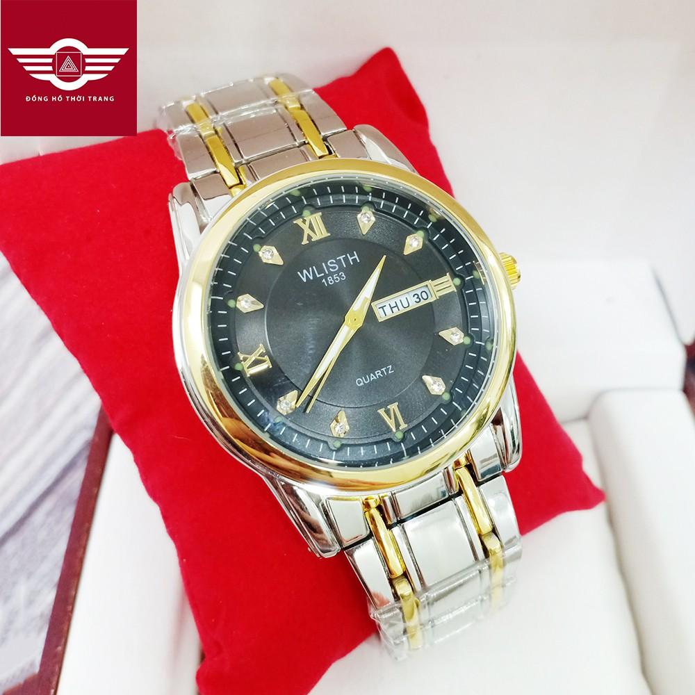 [SIÊU RẺ] Đồng hồ nam WLISTH 1853 mặt đồng hồ đính đá dạ quang DÂY KHÔNG GỈ CAO CẤP (NHIỀU MÀU)