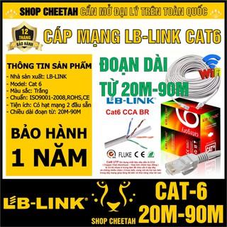 Đoạn dài từ 20m-90m - Dây cáp mạng Lb-Link Cat6 – Bấm sẵn 2 đầu – Cắt từ cuộn tiêu chuẩn – Chính hãng LB-LINK