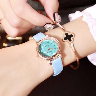 ( Giá Sỉ ) Đồng hồ thời trang nữ DZG mặt tròn dây da DZ37