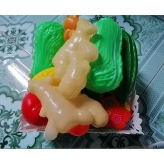 C52-0096 Hoa quả, bánh kem, rau củ quả bằng nhựa