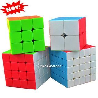 {Trọn bộ y hình} Combo Rubik 2345 rèn luyện tư duy logic