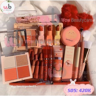 Bộ Trang Điểm Trái Tim [Chính Hãng] Kissbeauty gồm 15 món Makeup Tone Đào. Dành riêng cho Nàng nào thích Ngọt Ngào. thumbnail