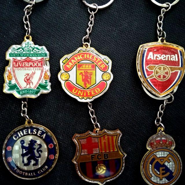 Móc chìa khoá clb bóng đá Manchester united, chelsea, Arsenal, Liverpool, Real,barcelona