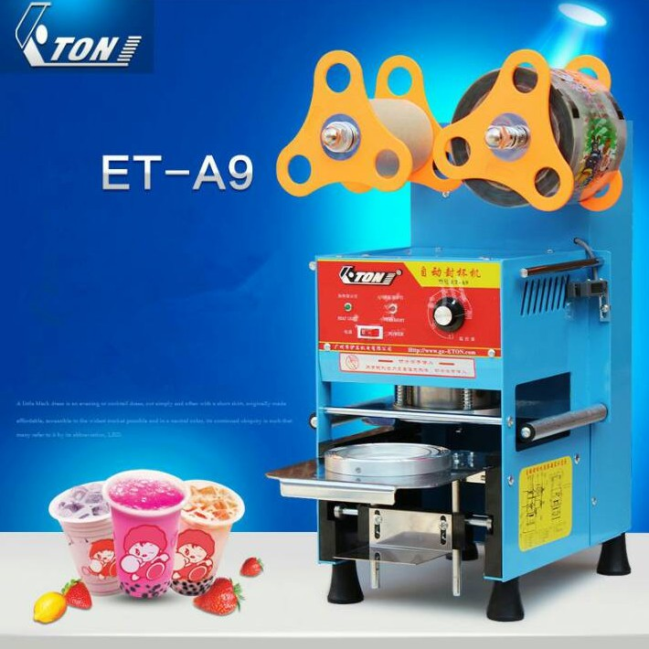 เครื่องซีลฝาแก้วระบบ Full Auto ET-A9 ชานมไข่มุก น้ำ ***สินค้าพร้อมส่ง***