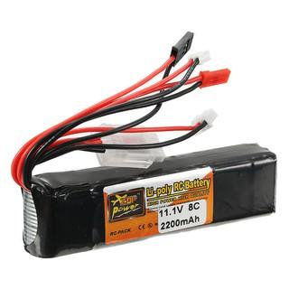 Pin 3S ZOP 11.1V 2200MAH 8C cho tay cầm điều khiển Devo 7. Giá Tốt nhất