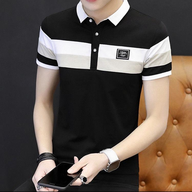 Áo thun Polo ngắn tay ôm body phong cách Hàn Quốc dành cho nam