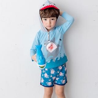 Bộ Đồ Bơi Tay Dài Chống Nắng Có Mũ Trùm Đầu Dành Cho Trẻ Em