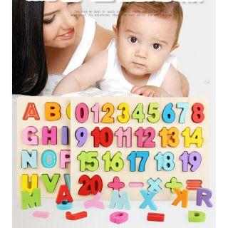 Combo 2 Bảng Nổi ghép hình chữ và số