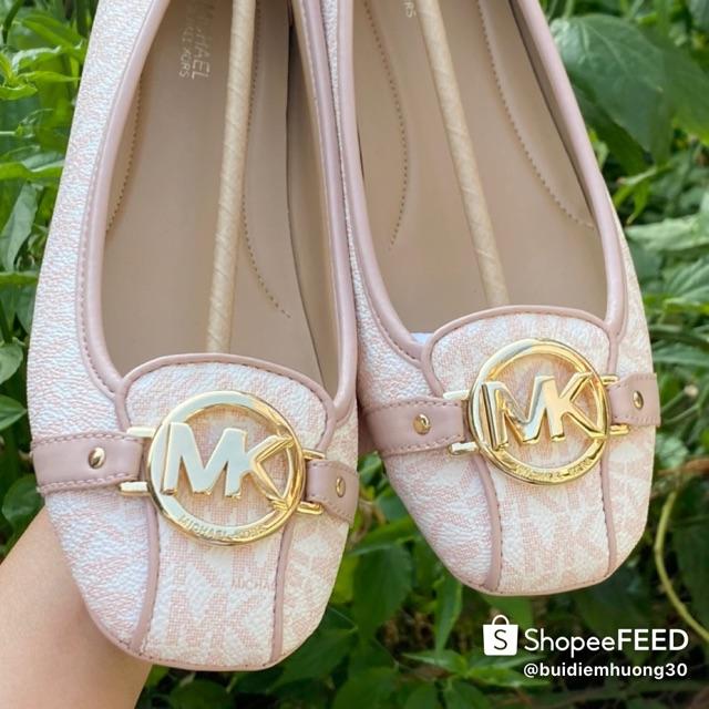 Giầy bệt Mk authentic logo hồng tag vàng