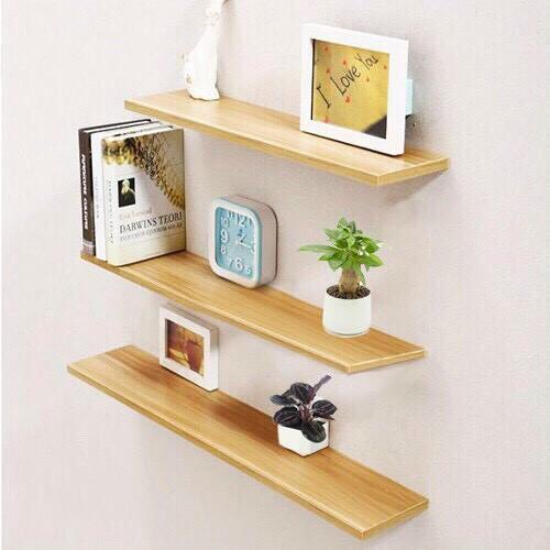 giá xưởng combo 3 kệ treo tường gỗ mdf chống ẩm 50cmx13cm