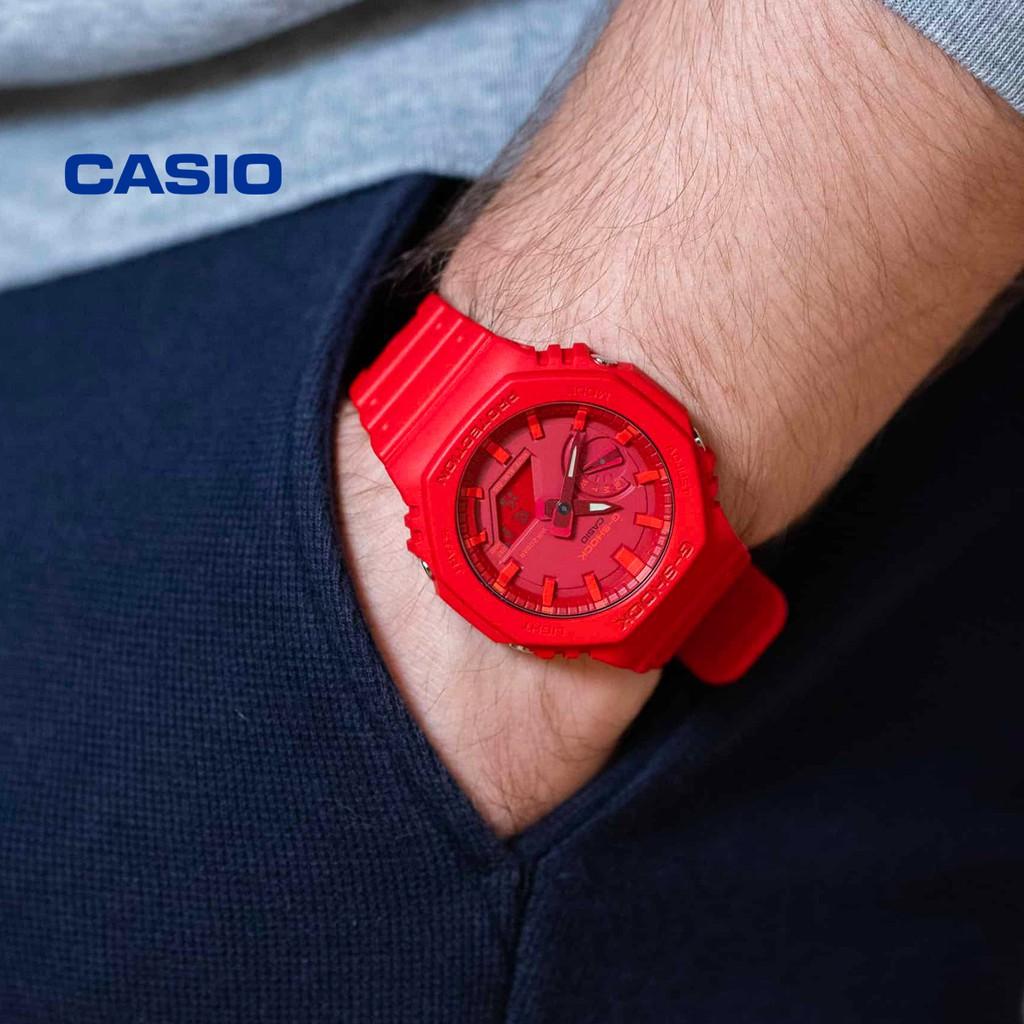 Đồng hồ nam nữ G-Shock Casio GA-2100-4ADR chính hãng - Bảo hành 5 năm, Thay pin miễn phí trọn đời máy