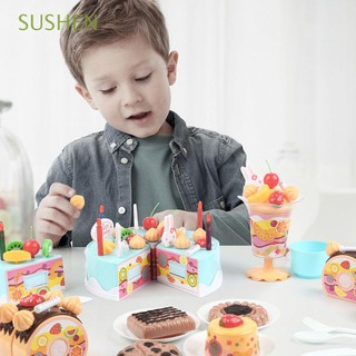 38-75Pcs Funny Fashion Early Education Kids Gift Adorable Birthday Cake/Fruit Cutting