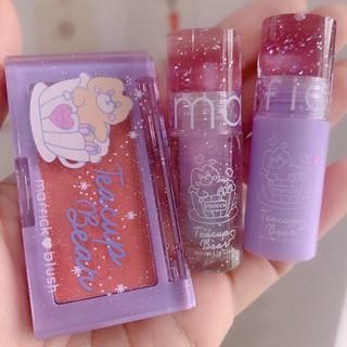 Set Trang Điểm Box Maffick có Hộp Đựng Màu Tím Hình Chú gồm 3 món Makeup Siêu dễ thương.Chất phấn mịn,độ bám cao.Tặng 1 thumbnail