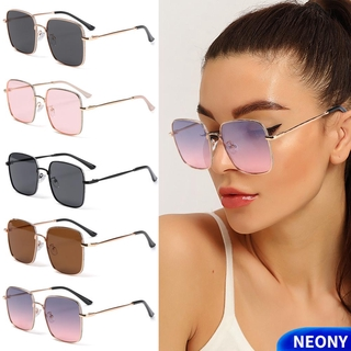 NEONY Fashion Glitter Eyeglasses Vintage Ultra Light Frame Anti-Blue Light Glasses Women Portable Oversized Computer Square Eye Protection