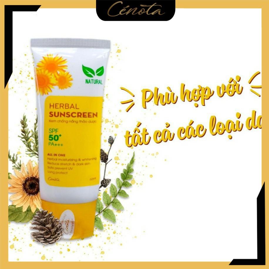 Kem chống nắng Hebal Sunscreen, kem chống nắng thảo dược Cénota SPF50+/PA+++