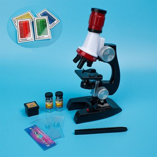 1200X Biological Microscope Kit Children Science Education Toys Laboratory