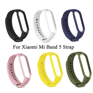 Silicone Strap Compatible with Xiaomi Mi Band 5, Adjustable Colourful Replacement Wristband Soft Sport Watch Band Replacement for Xiaomi Mi Band 5