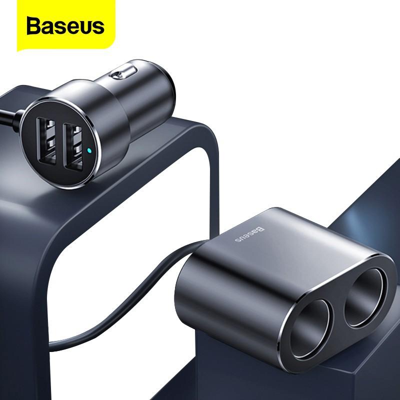 Tẩu sạc Baseus hai cổng USB 12V-24V cho xe hơi chất lượng cao