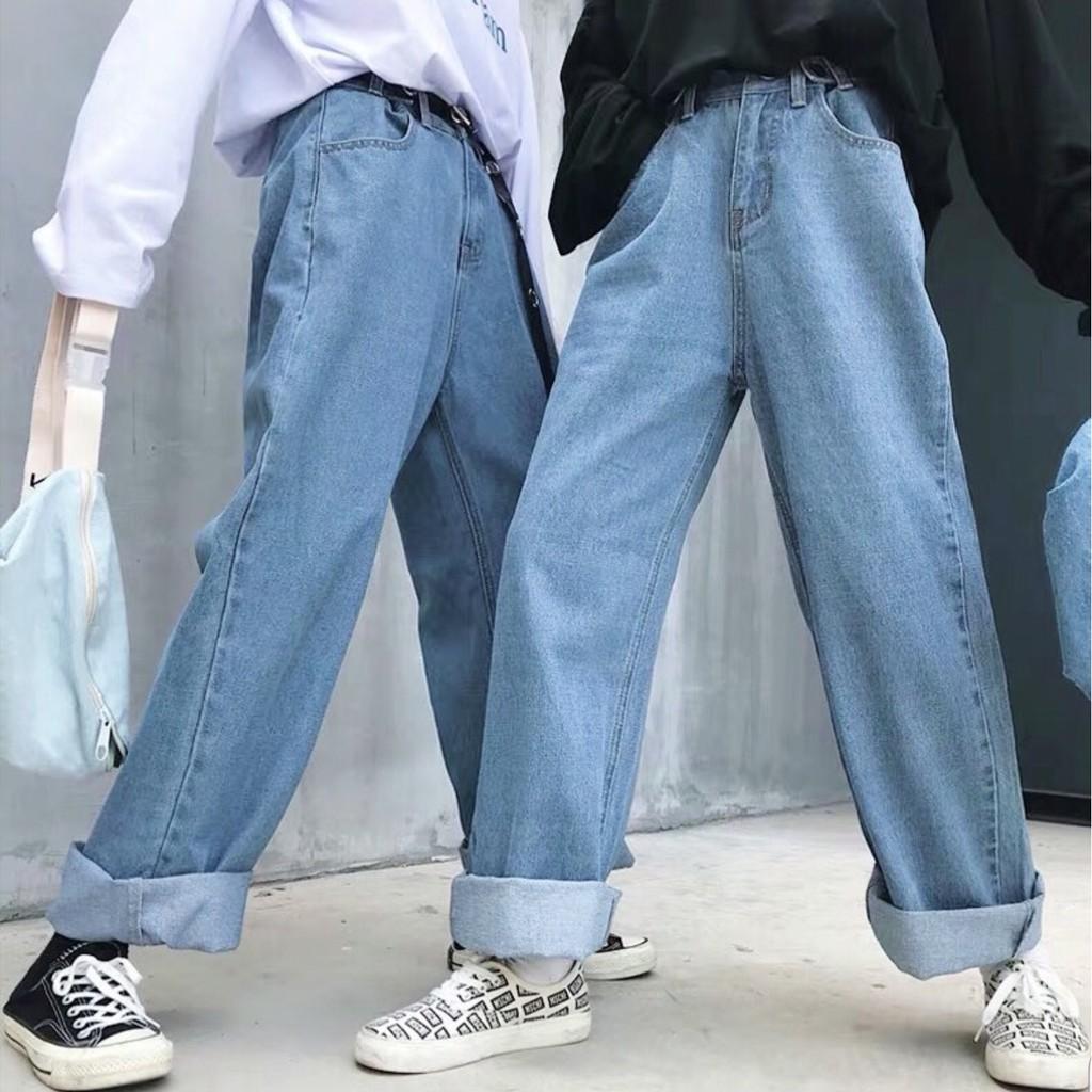 Quần Jeans Ống Rộng SIMPLE JEANS Unisex | SaleOff247