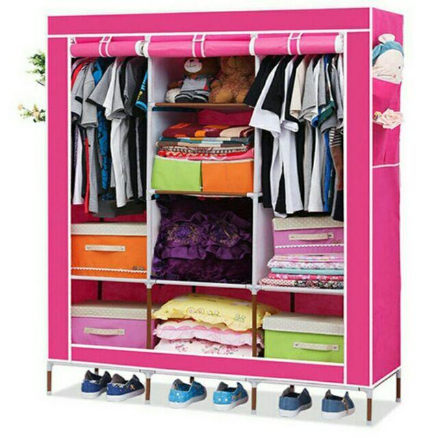 Tủ đựng quần áo (hồng)